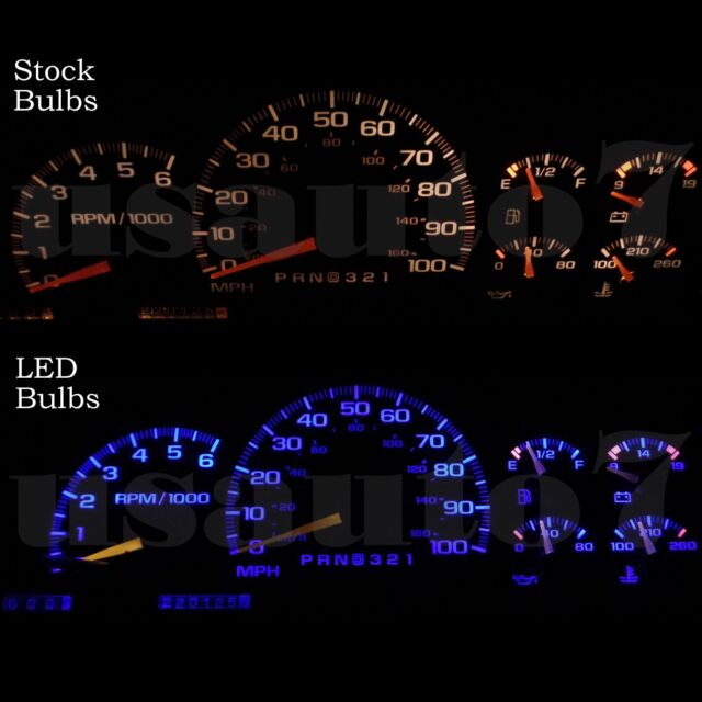 95-98 Chevy Suburban 1500 C1500 K1500 Dash Cluster Gauge Blue SMD LED  Lights Kit