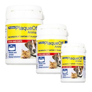 Pro Den Plaque Off Animal, Bad Breath and Tartar Control for Cats and Dogs 180g 5055567814312