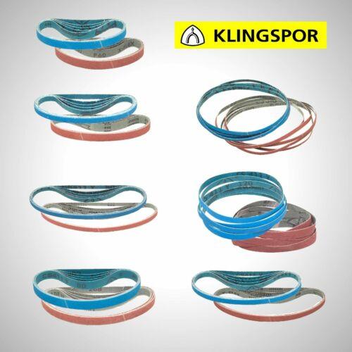 10 x Klingspor Gewebe Schleifband Schleifbänder 10x330 13x457 9x533 mm Korn etc.
