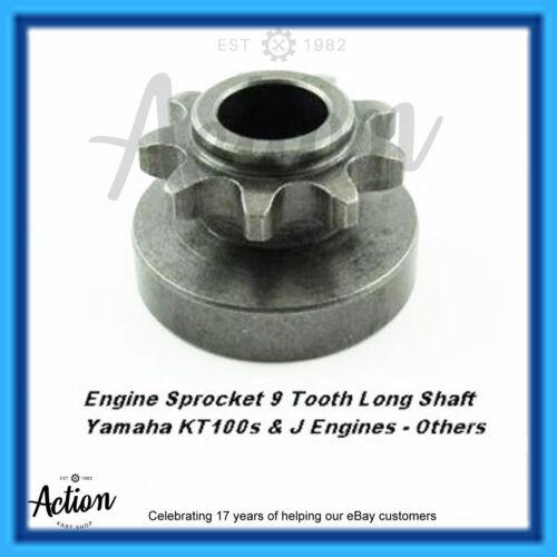 GO KART ENGINE SPROCKET 9T10T11T12T or 13 TOOTH YAMAHA LONG SHAFT KT100J /&  KTS