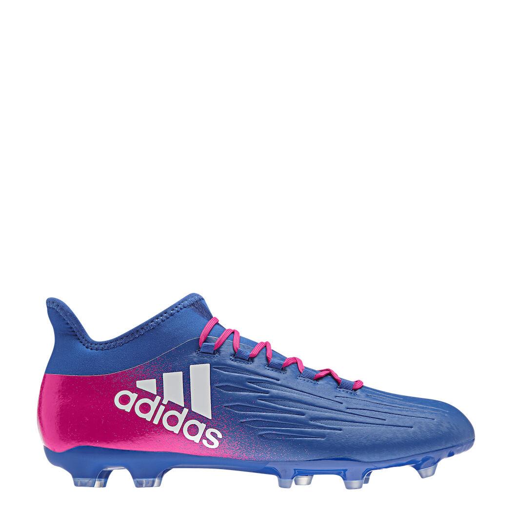 Adidas x 16.2 Fg blu Blast Pacco Sautope da da da Calcio Calzino Blu Bianco Fucsia e32