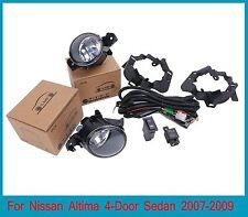 For Nissan Altima 4-Door Sedan 2007-2009 Fog Light+Switch+Cover Cap+Wiring Set