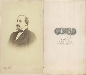 100% De Qualité Franck, Paris, Monsieur De Profil Cdv Vintage Albumen Carte De Visite Tirage A Gagner Une Grande Admiration