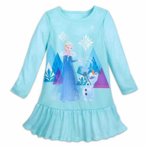 10 Disney Frozen Frozen 2 Elsa Sleep Gown Nightie Nwts Girls Size 9//10 Blue 9