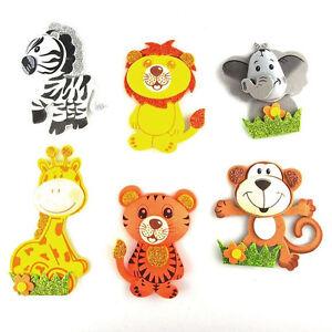6 12 24 baby shower safari jungle animals decoration foam for Animal decoration games for girls