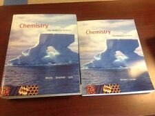 Lot of 2 CHEMISTRY MOLECULAR SCIENCE books textbook + study guide 3rd Ed. Moore