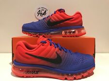 NIKE AIR MAX 2017 PARAMOUNT BLUE/MAX ORANGE 849559 402 UK7.5 US8.5 EU42
