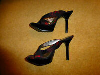 sacha high heel platform sandals shoes LADIES 40 /7 WOMENS. Fabric party
