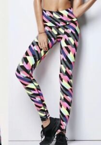 9c77b3f32bd24 Details about Victoria's Secret VSX Knockout Legging Medium M Pink Black  Geometric Pants Tight