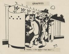 """""""GRAFFITI"""" Dessin à l'encre de Chine par DED pour LE MERINOS 1944"""