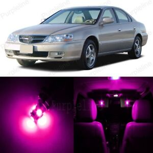 10 x Pink LED Interior Lights Package For 1999 - 2003 Acura TL + PRY TOOL
