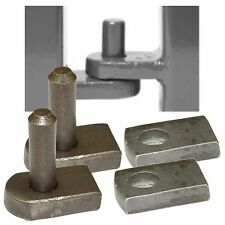 Weld On Gate Hinge Set - 12mm Pin & Hole - Welding