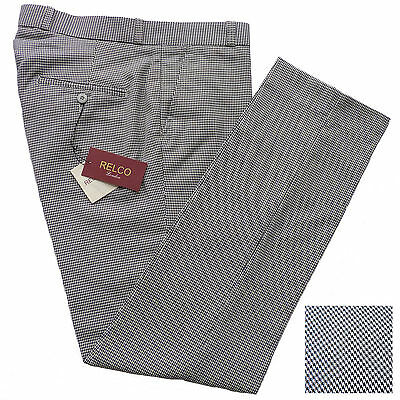 Mens DOGTOOTH Sta Press Trousers by Relco Size 30 - 40 Mod Skin Ska Retro Prest