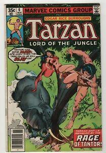 Tarzan-Lord-of-the-Jungle-6-Nov-1977-Marvel-Mid-Grade-Large-Fold-on-Cover