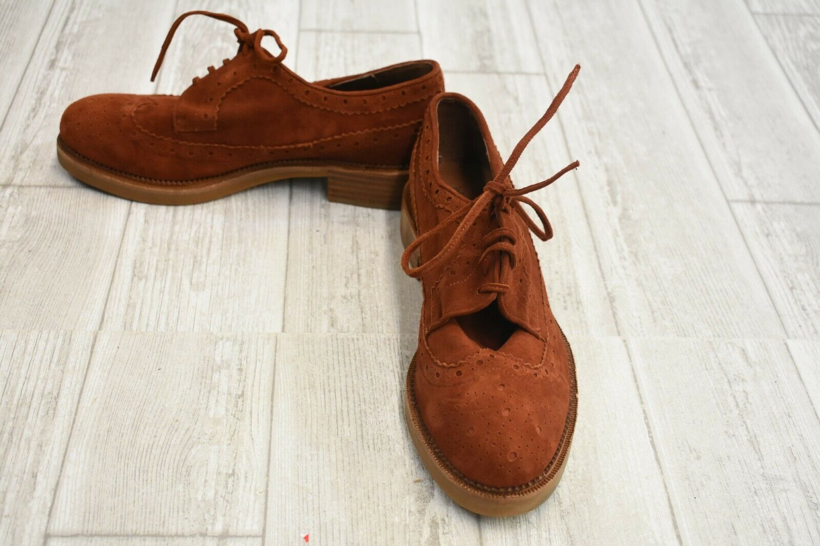 Jeffrey Campbell Gershwin Oxford scarpe - Wouomo Dimensione 8 -  Rust Suede  best-seller