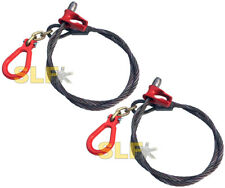 Qty 2 Of Usa Built 6 3 Link Logging Choker Cable With Clevis Ring 916 Cable