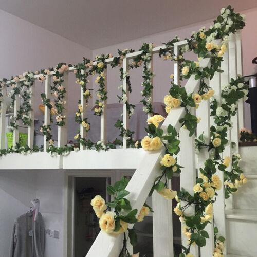 69 Head Artificial Flower Rose Leaf Garland Vine Wedding Road Side Leading Decor