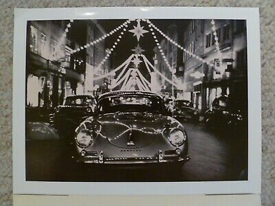 1963 Porsche 356 Cabriolet Showroom Advertising Poster RARE! Awesome L@@K