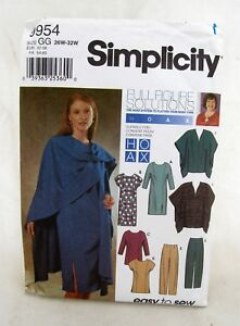 9954-Simplicity-Dress-Wrap-Hoax-Mary-Duffy-Sewing-Pattern-Womens-Clothing-26-32W