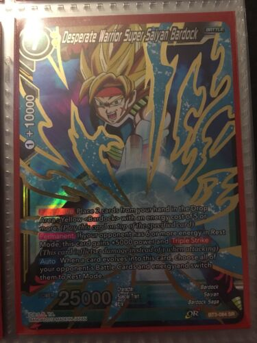 BT3-084 SR Desperate Warrior Super Saiyan Bardock Dragon Ball Super Card Game
