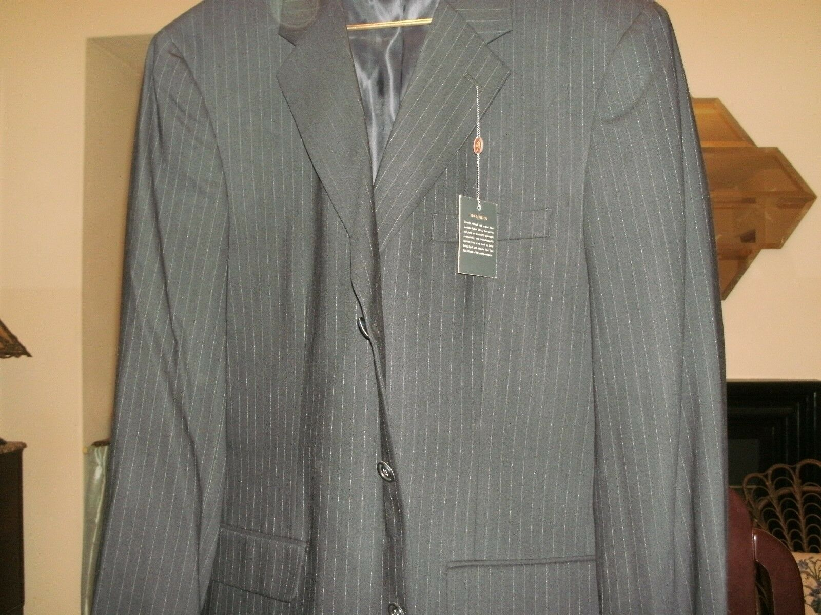TASSO ELBA SPORTCOAT 44L LONG NEW TAUPE NEW WITH TAGS 400 ITEM DARKER SEE PIC