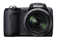 Brand New Nikon COOLPIX L105 12MP 15X Optical Zoom Digital Camera Bundle - Black