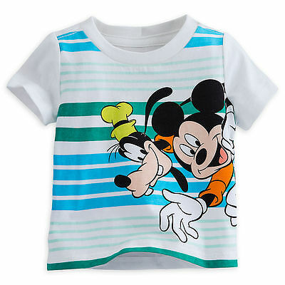 Disney Store Mickey Mouse /& Goofy Boys T Shirt Tee Baby Size 3 6 9 12 Months NWT