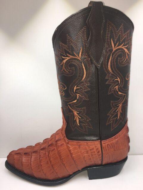 MEN/'S WESTERN COWBOY CROCODILE DESIGN BOOTS 100/% LEATHER BOTAS DE PIEL 11328