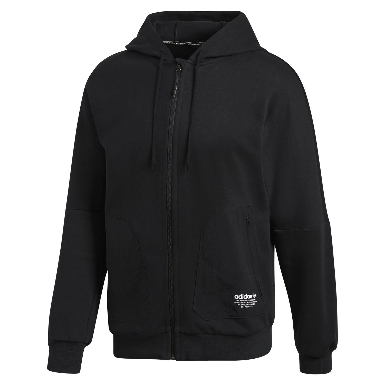 Adidas ORIGINALS herren NMD FULL ZIP HOODIE HOODED schwarz RETRO STYLE FASHION NEW