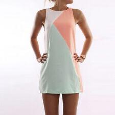 Womens Summer Casual Sleeveless Evening Party Long Shirt Tops Short Mini Dress