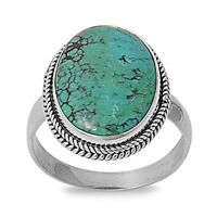 Natural Turquoise Solid .925 Sterling Silver Ring Sizes 6 7 8 9