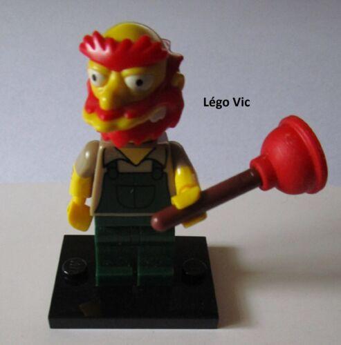 "socle Légo 71009 Minifig Figurine The Simpson 2 /""Groundskeeper Willie/"""
