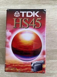Lot De 2 Cassettes Vierges Vhs-C | TDK HS45 | Camescope LP90mn SP45mn | Neuves