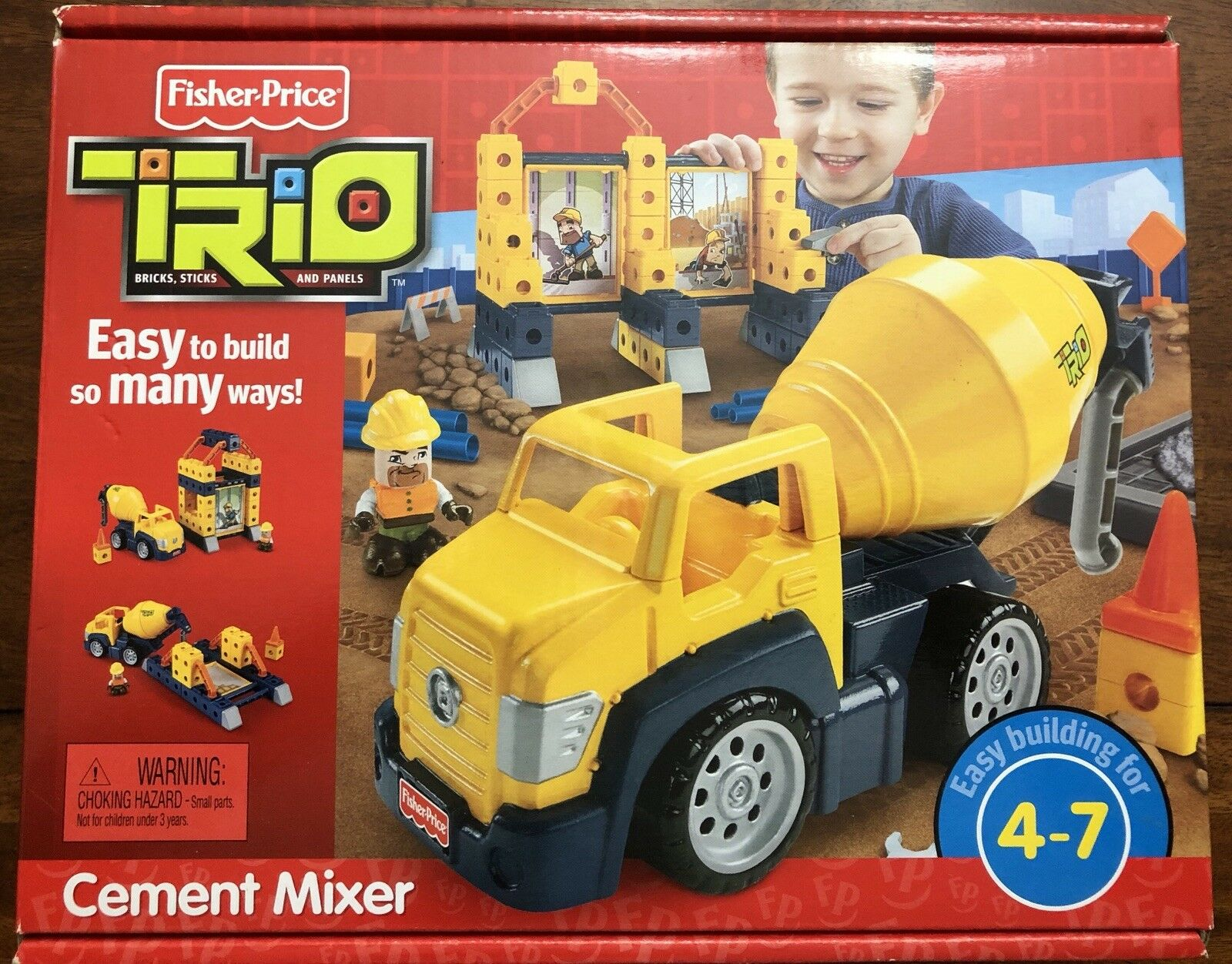 Fisher Price Trio Cemänt Mixer byggnad leksak R2131 - New in låda