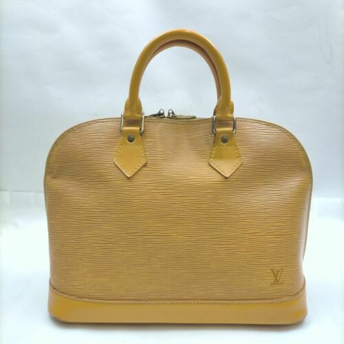 Louis Vuitton Hand Bag M52149 Alma Yellows Epi 140