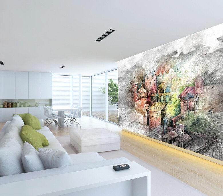 3D Castle Painting 7 Wall Paper Murals Wall Print Wall Wallpaper Mural AU Summer