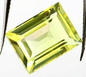 9.95 Ct Natural Yellow Sapphire Emerald Cut Certified Loose Gemstone