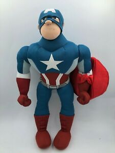 Disney-Store-Marvel-The-Avengers-Captain-America-Plush-Stuffed-Toy-Doll-Poseable