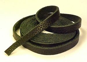 One 3-4oz BLACK UPHOLSTERY LEATHER (Lite Weight) Strap Strip Cow Hide