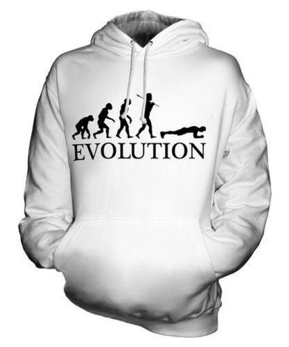 THE PLANK (MALE) EVOLUTION OF MAN UNISEX HOODIE  Herren Damenschuhe LADIES GIFT EXERCISE