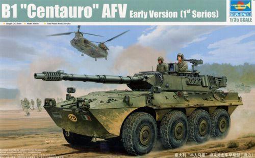 01562 Trumpeter 1 35 Model B1  Centauro  AFV[1  Series] Roller Panzer Tank Kit