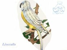 Blue Budgie/Budgerigar Plush Soft Toy Parakeet Bird by Hansa  4653