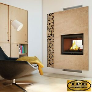 Details About Zuzia 16 Tunnel Double Sided Fireplace Insert Wood Burning Stove Cette 16kw