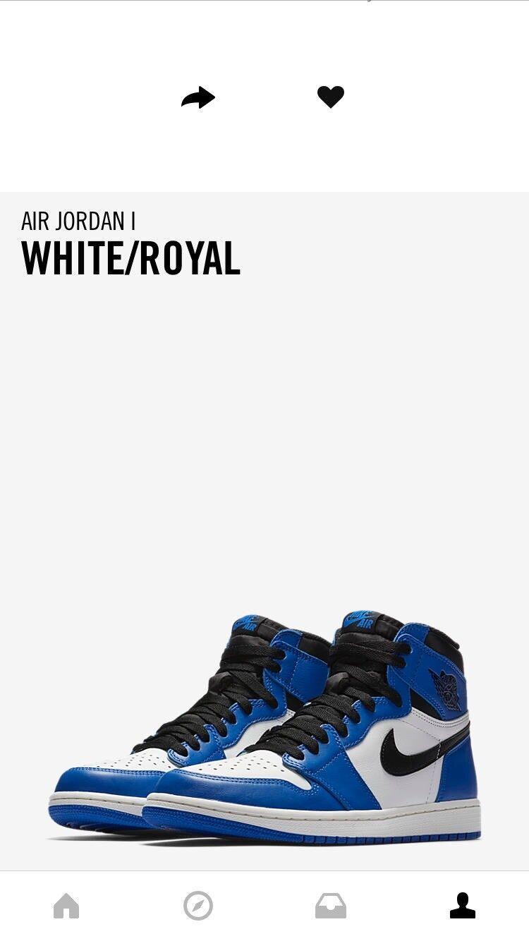 Nike Air Jordan 1 Retro High WHITE/ROYAL Size 13