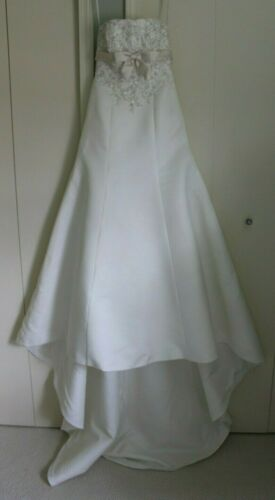 David's Bridal French Bustle Corset Wedding Gown/D