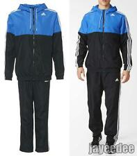 ADIDAS TRAINER WOVEN TRACKSUIT TRACK JACKET PANTS HOODIE AY3004 BLACK/BLUE L