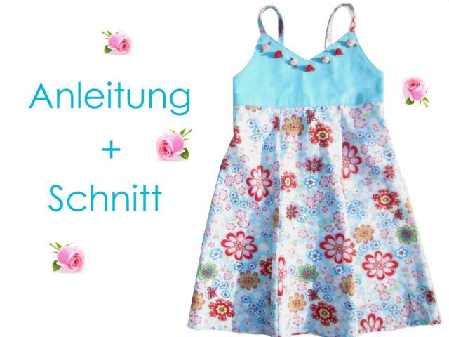 Schnitt+ Nähanleitung Kleid Nele Gr.80-134 als Ebook