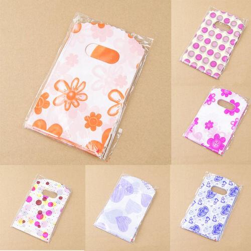 100pcs Wholesale Lot Pretty Mixed Pattern Plastic Gift Bag Shopping Bag 14X9 HV