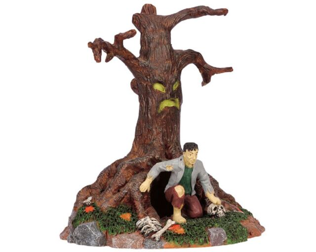 Lemax Spooky Town The Zombie's Lair Tree 63557