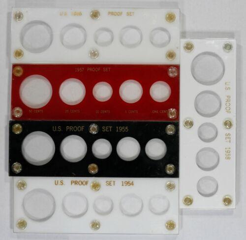 1954 1958 CAPITAL PLASTICS PROOF SET VARIETY HOLDERS LOT OF 5 HOLDERS